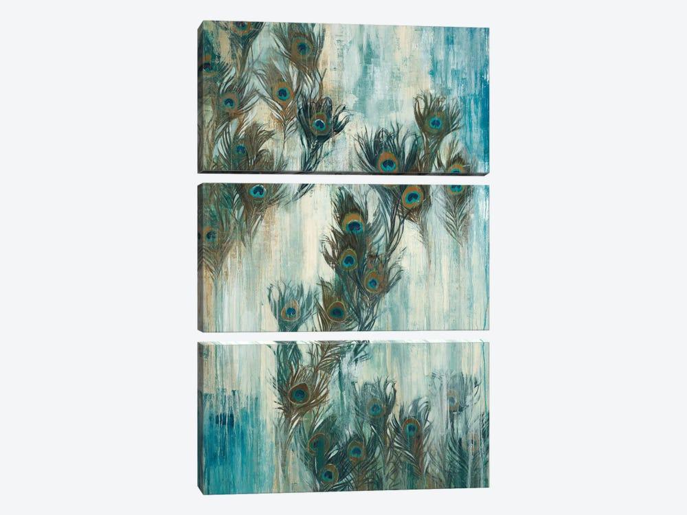Proud As A Peacock by Liz Jardine 3-piece Canvas Art Print