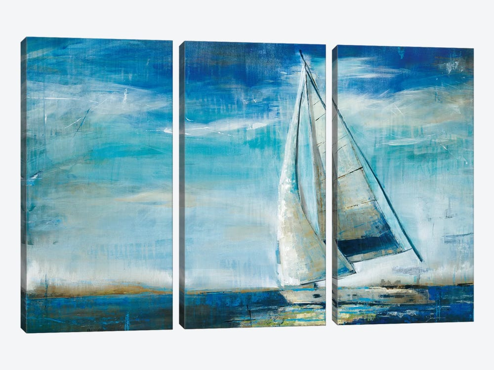 Sail Away by Liz Jardine 3-piece Canvas Wall Art