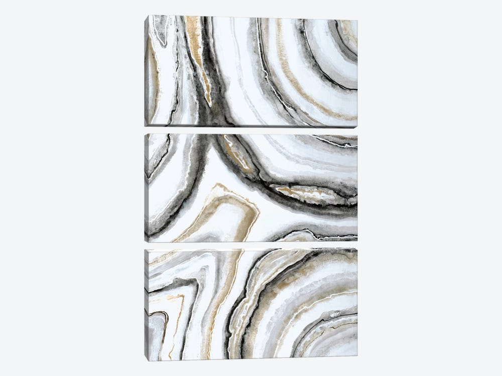 Shades Of Gray II by Liz Jardine 3-piece Canvas Artwork