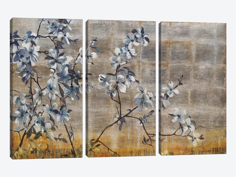 Silver Dogwood by Liz Jardine 3-piece Canvas Wall Art