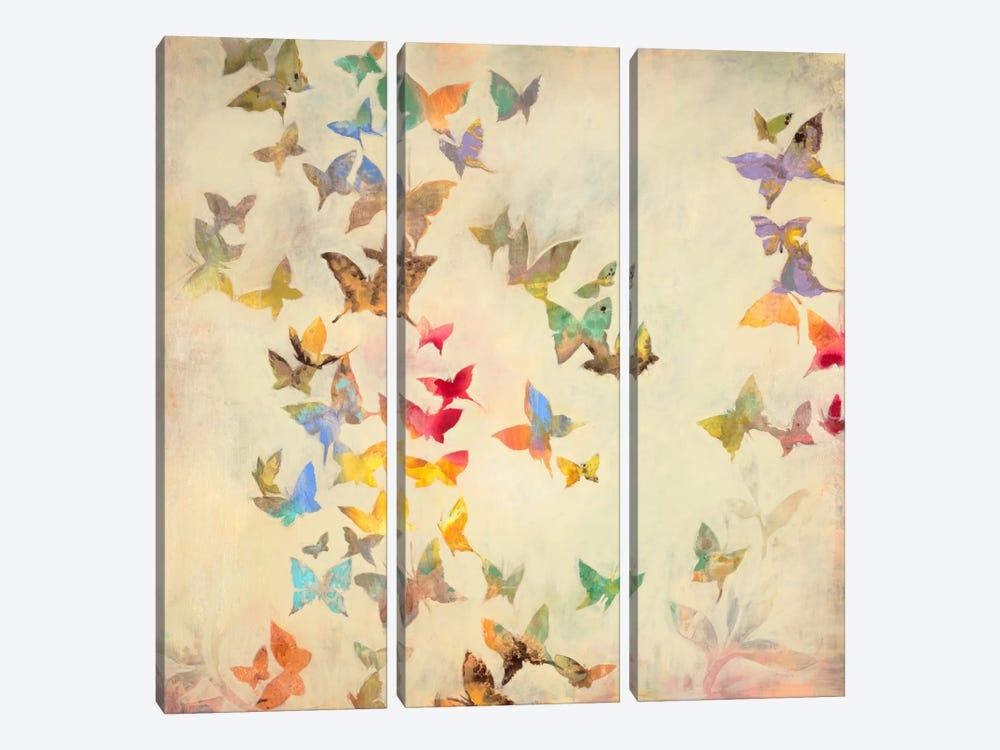 All Aflutter by Liz Jardine 3-piece Art Print
