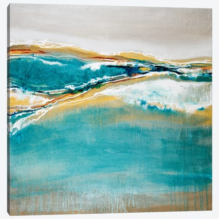 Aqua Quartz 3-Piece Canvas #JAR12} by Liz Jardine Canvas Art