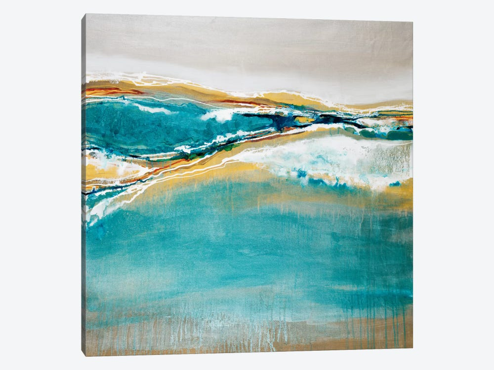 Aqua Quartz by Liz Jardine 1-piece Canvas Art