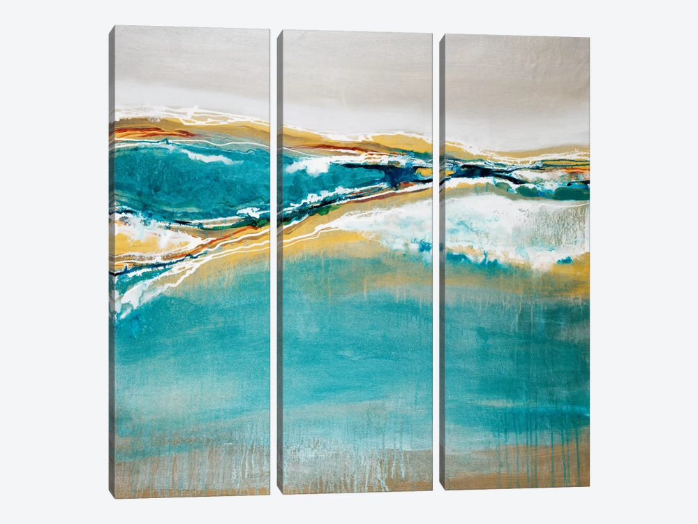Aqua Quartz by Liz Jardine 3-piece Canvas Art