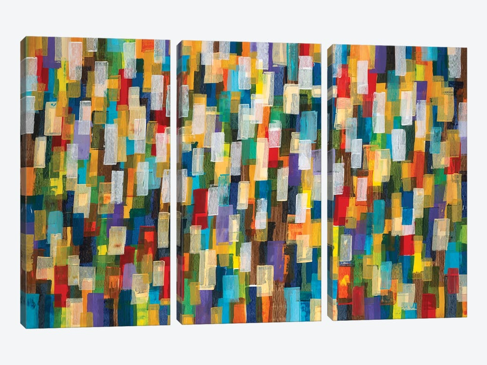 Confetti II by Liz Jardine 3-piece Canvas Art Print