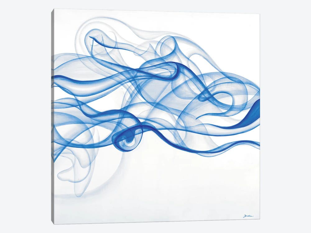 Smoke Signals (Blue) by Liz Jardine 1-piece Canvas Art