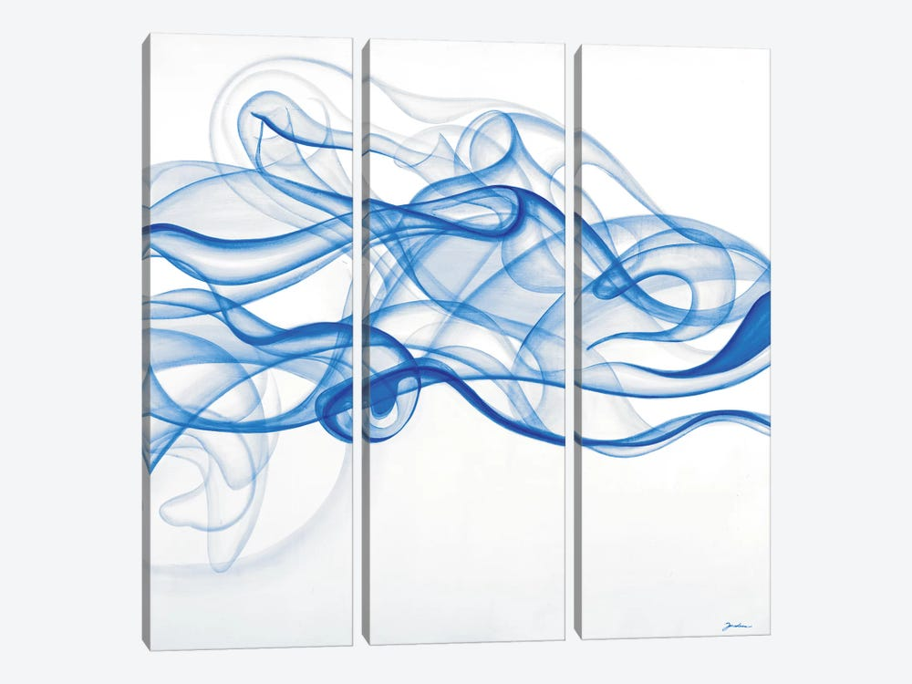 Smoke Signals (Blue) by Liz Jardine 3-piece Canvas Wall Art
