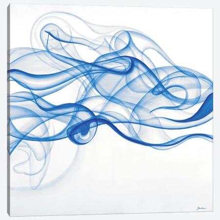 Smoke Signals (Blue) Canvas Print #JAR145} by Liz Jardine Canvas Art Print