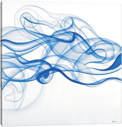 Smoke Signals (Blue) Canvas Art Print