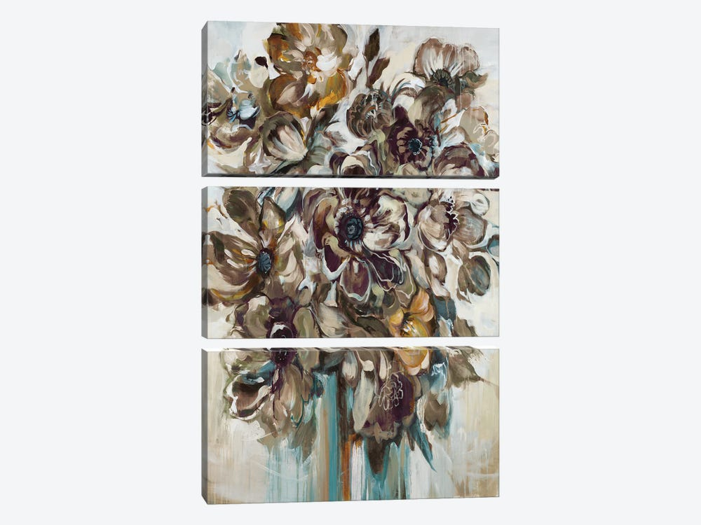 Wild At Heart (Gray) by Liz Jardine 3-piece Canvas Print