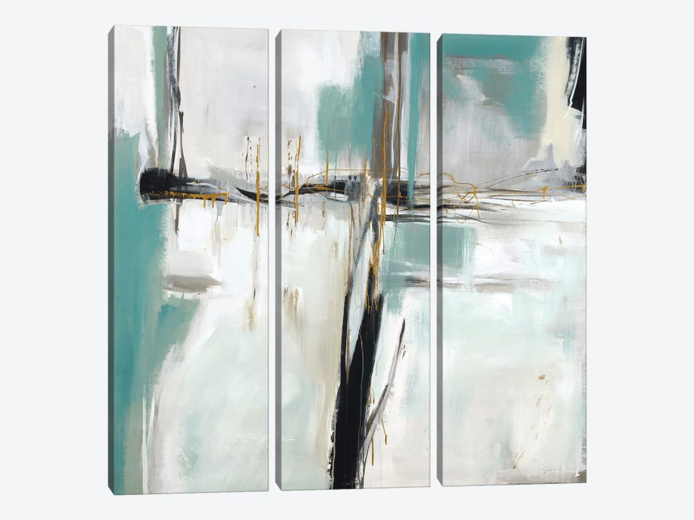 Beach House II by Liz Jardine 3-piece Canvas Wall Art