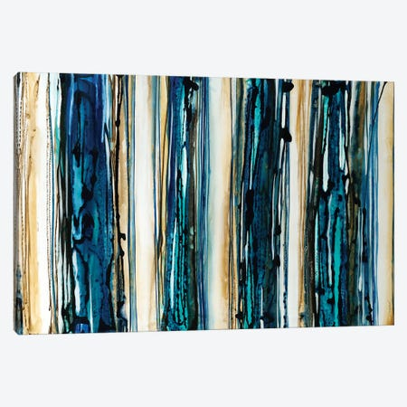 Blue Streaks Canvas Print #JAR152} by Liz Jardine Canvas Print