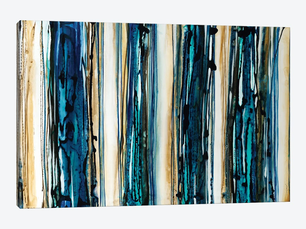 Blue Streaks by Liz Jardine 1-piece Canvas Art