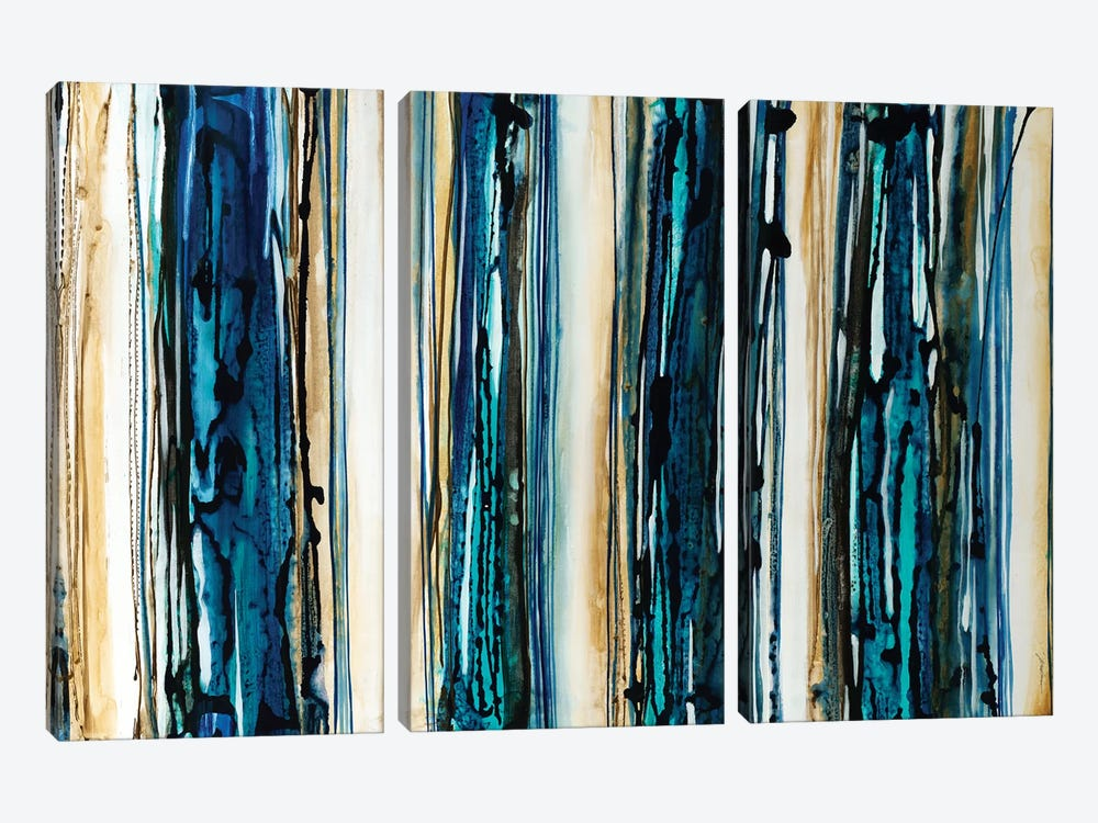 Blue Streaks 3-piece Canvas Artwork