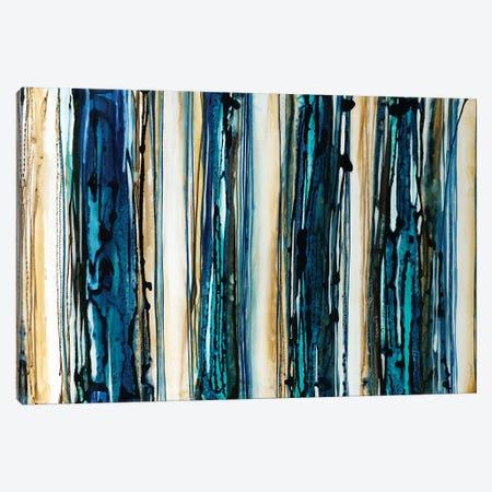 Blue Streaks Canvas Print #JAR152} by Liz Jardine Canvas Print