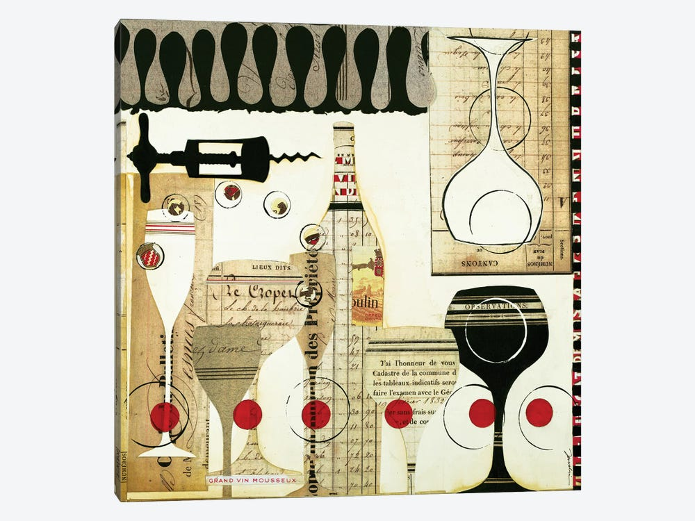 Deco Vino II by Liz Jardine 1-piece Canvas Art