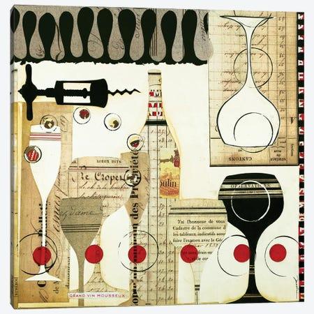 Deco Vino II Canvas Print #JAR158} by Liz Jardine Canvas Art Print