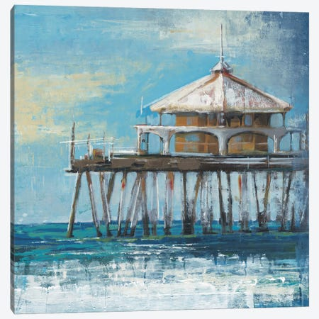 Boardwalk Pier Canvas Print #JAR15} by Liz Jardine Art Print