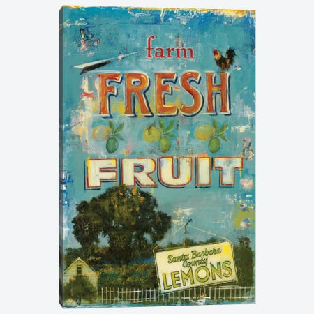 Fresh Fruit Canvas Print #JAR161} by Liz Jardine Canvas Wall Art