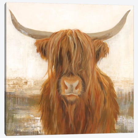 Happy Yak Canvas Print #JAR163} by Liz Jardine Canvas Artwork