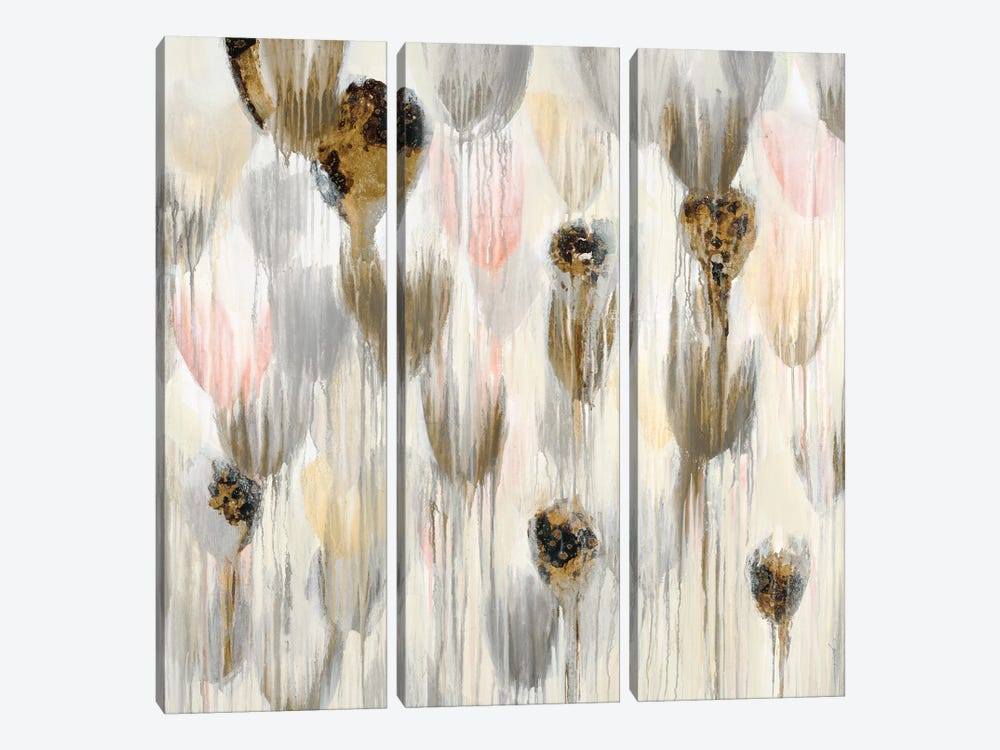 Life Aquatic In Blush by Liz Jardine 3-piece Canvas Print