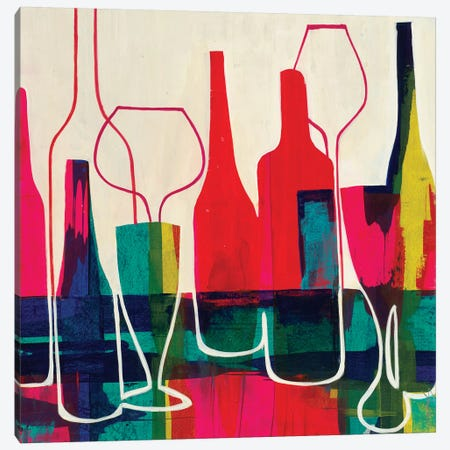 Raise Your Glass Canvas Print #JAR172} by Liz Jardine Art Print