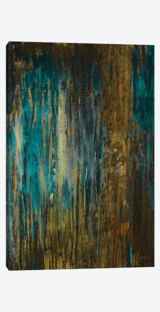 Asia Teal Canvas Print #JAR190} by Liz Jardine Canvas Art Print