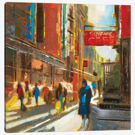 Bright Lights, Big City III Canvas Print #JAR194} by Liz Jardine Canvas Wall Art