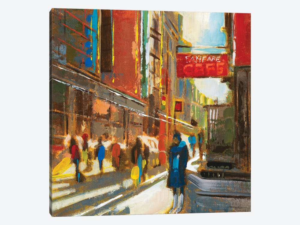 Bright Lights, Big City III 1-piece Canvas Artwork