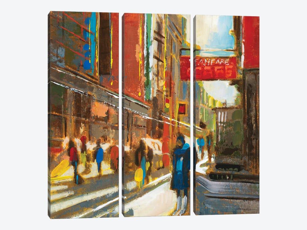Bright Lights, Big City III by Liz Jardine 3-piece Canvas Artwork