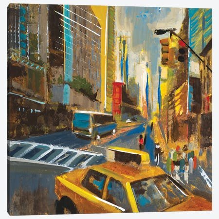 Bright Lights, Big City IV Canvas Print #JAR195} by Liz Jardine Canvas Wall Art