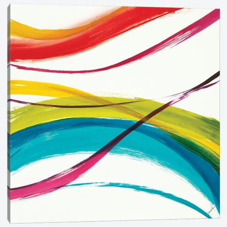 Neon Currents I 3-Piece Canvas #JAR217} by Liz Jardine Canvas Print