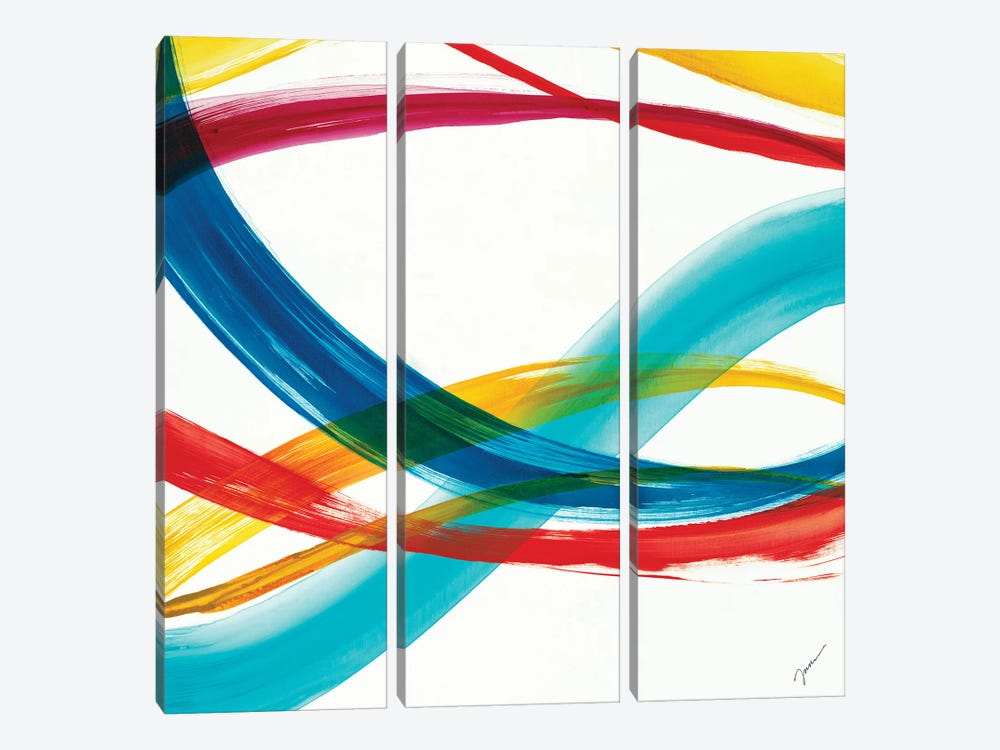 Neon Currents II by Liz Jardine 3-piece Canvas Wall Art