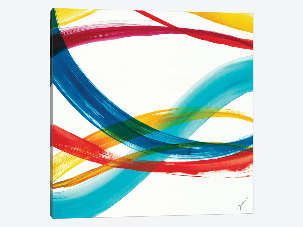 Neon Currents II by Liz Jardine 1-piece Canvas Wall Art