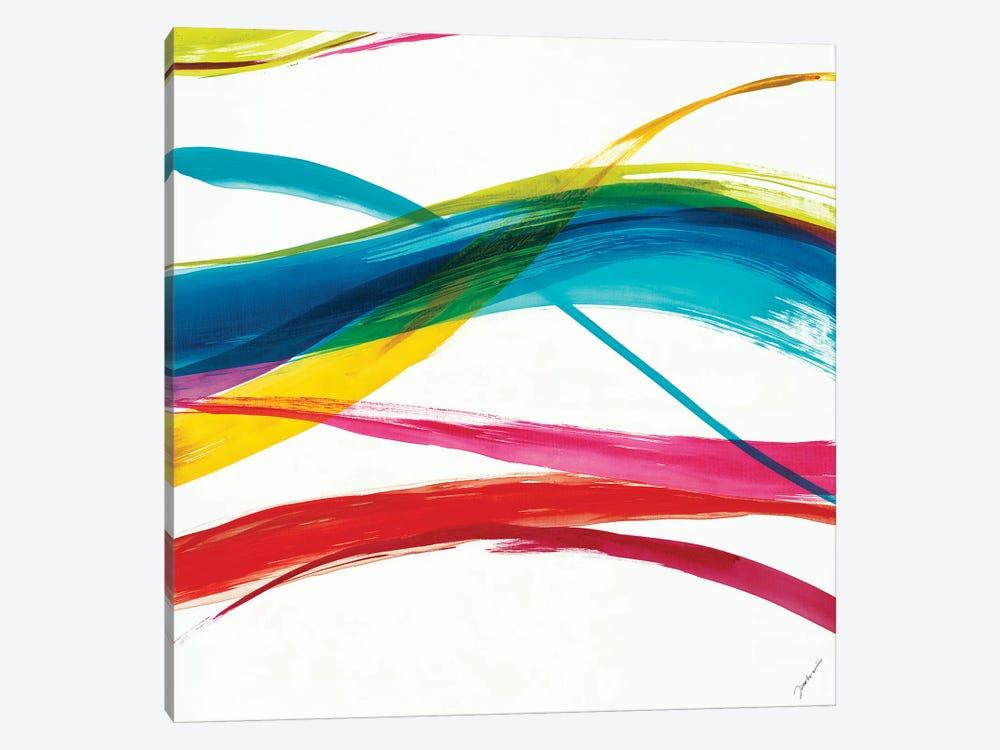 Neon Currents III by Liz Jardine 1-piece Canvas Art Print
