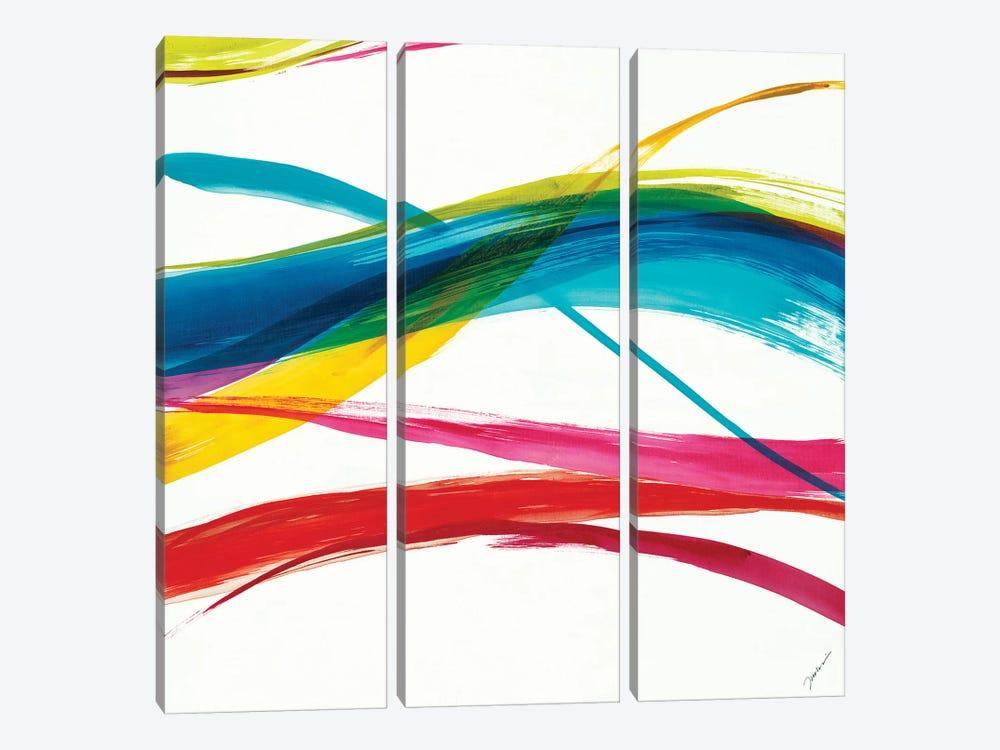 Neon Currents III by Liz Jardine 3-piece Canvas Print