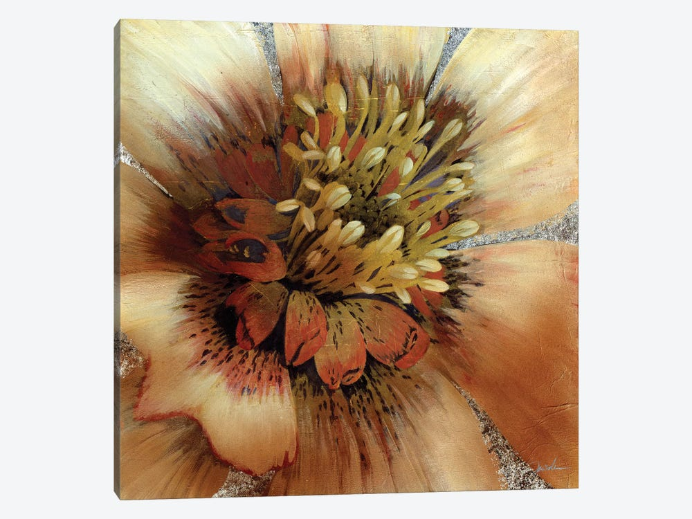 Silver Botanicals III by Liz Jardine 1-piece Canvas Art