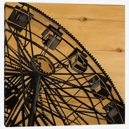 Vintage Ferris Wheel Canvas Print #JAR253} by Liz Jardine Canvas Wall Art