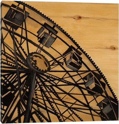Vintage Ferris Wheel Canvas Art Print