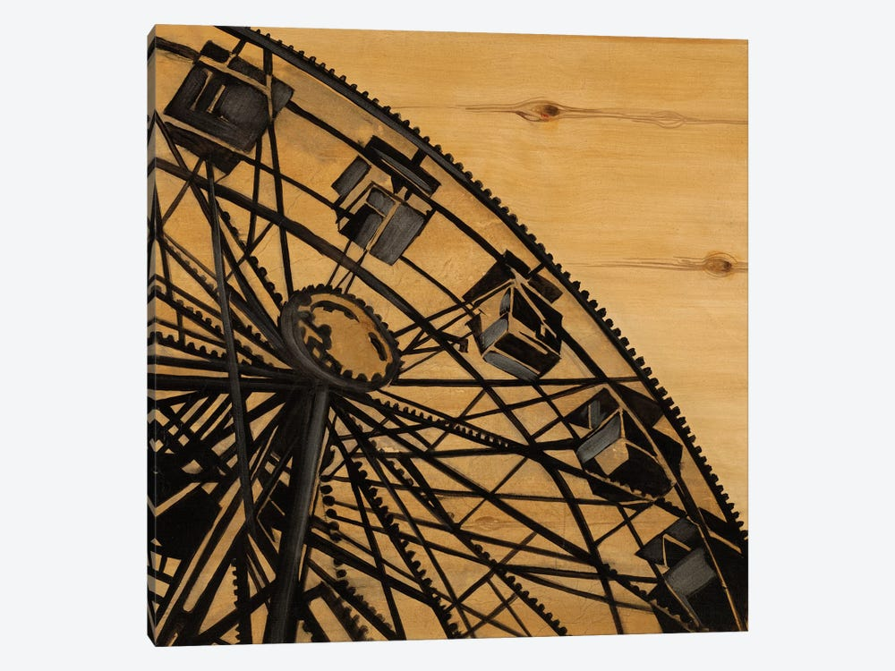 Vintage Ferris Wheel by Liz Jardine 1-piece Canvas Print