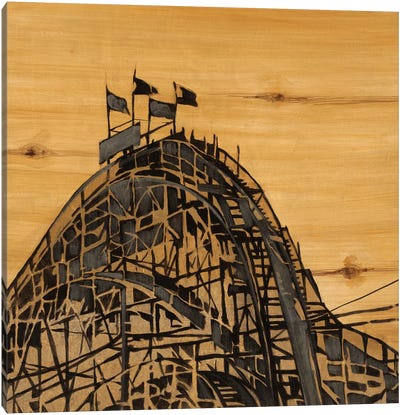 Vintage Roller Coaster Canvas Art Print