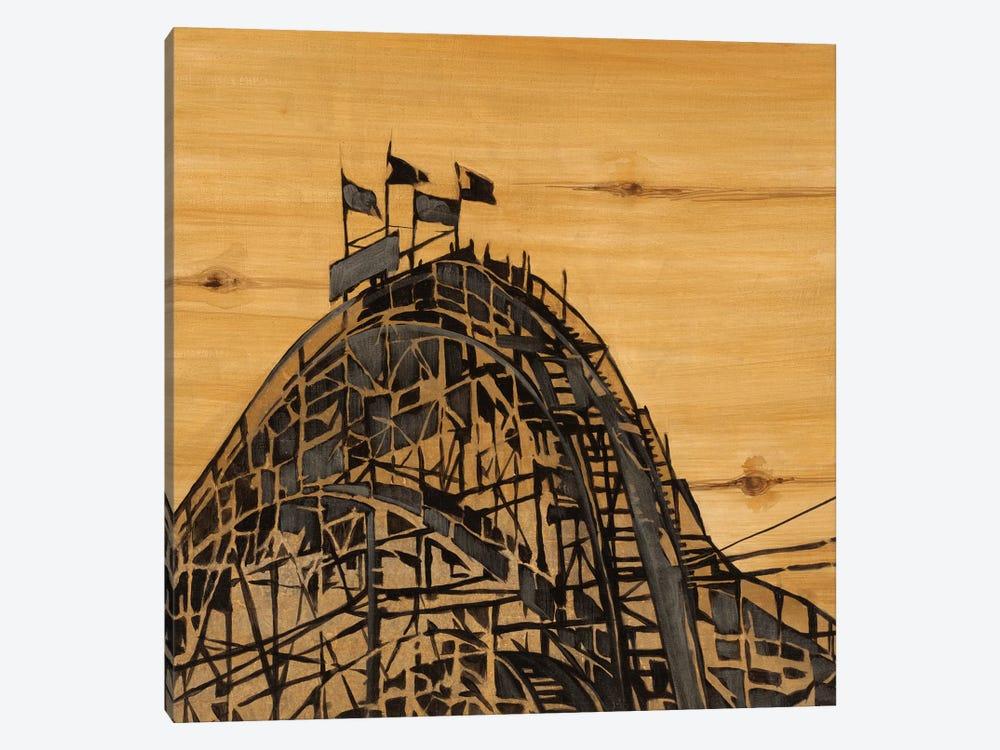 Vintage Roller Coaster by Liz Jardine 1-piece Canvas Art