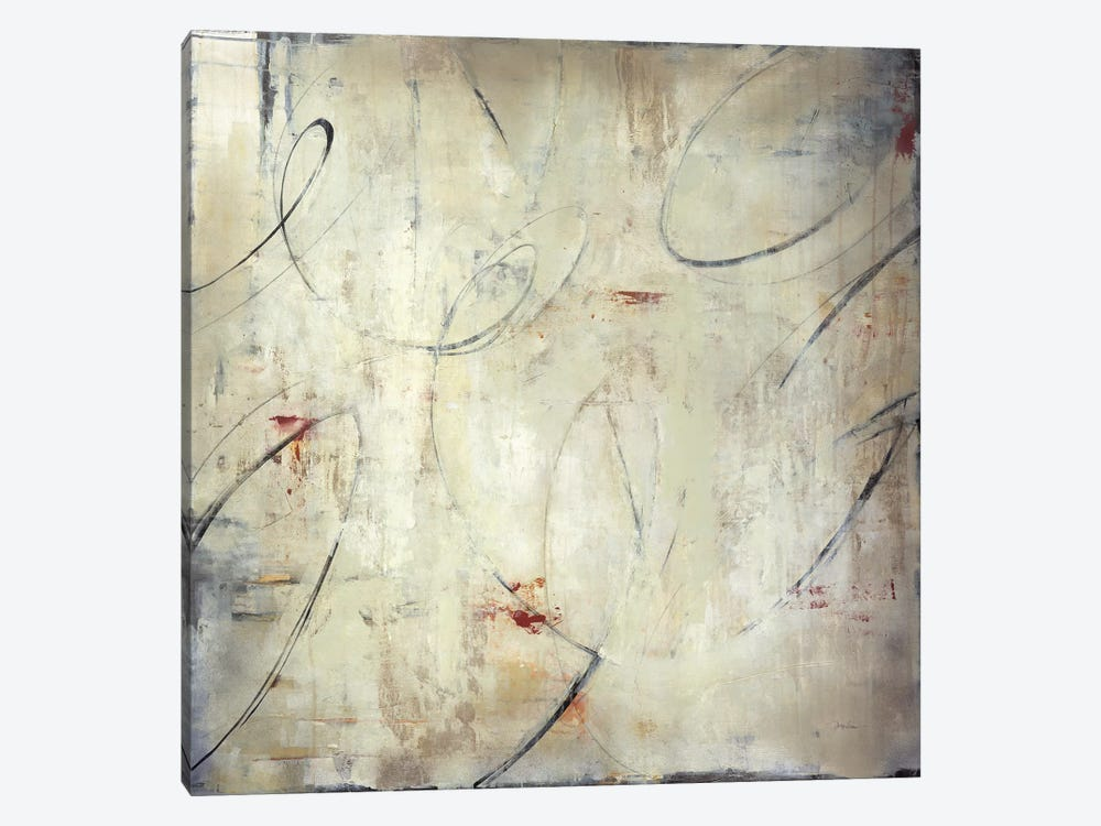 Zip Script by Liz Jardine 1-piece Canvas Art Print