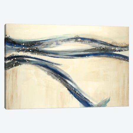 Catching A Blue Wave Canvas Print #JAR258} by Liz Jardine Canvas Art