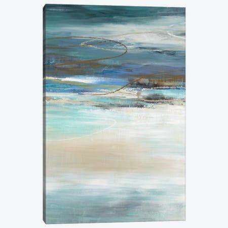 Geo Cache In Aqua Tones Canvas Print #JAR261} by Liz Jardine Canvas Art Print