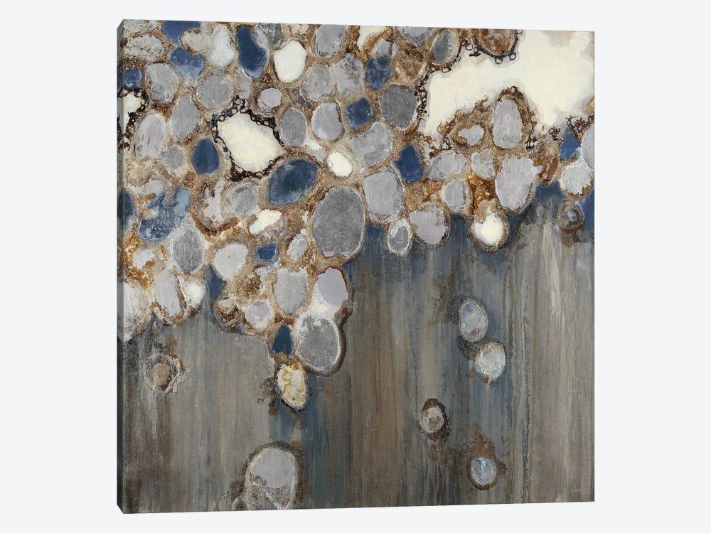 Indigo Oyster Shells by Liz Jardine 1-piece Art Print