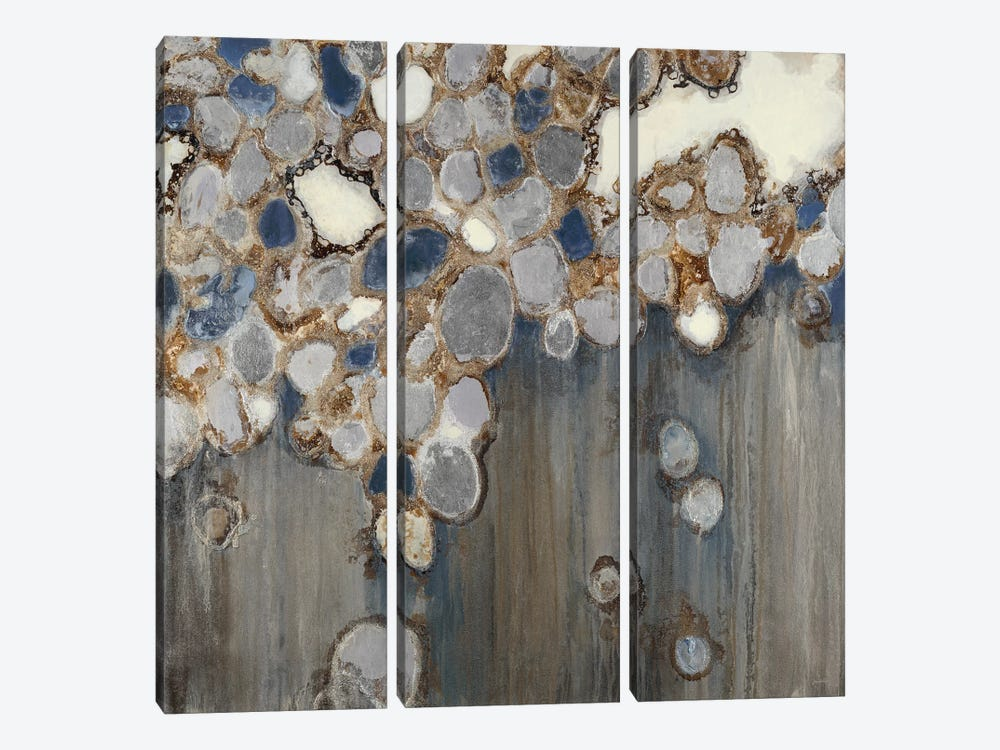 Indigo Oyster Shells by Liz Jardine 3-piece Art Print