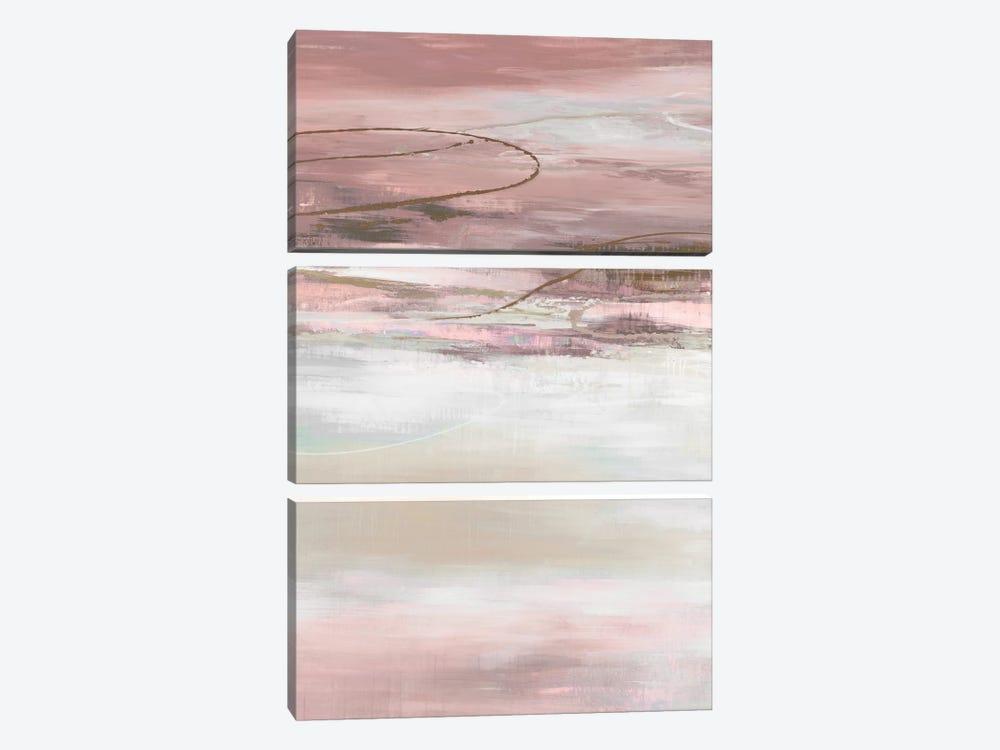 Geo Cache in Pale  by Liz Jardine 3-piece Canvas Art Print