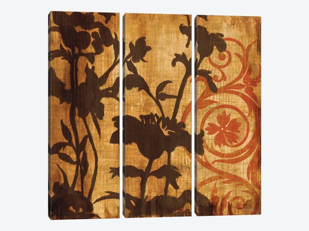 Chocolate Scroll by Liz Jardine 3-piece Canvas Art Print
