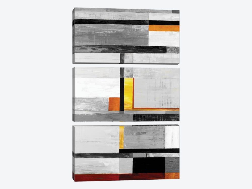 Retro Spectrum V7 by Liz Jardine 3-piece Canvas Art Print